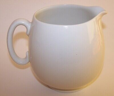 Shelley Pottery White Glaze Milk / Custard Jug 1925+ • 14.99£