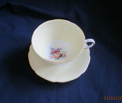 Paragon Yellow Coffee Cup And Saucer Royal Warrant Hm The Queen &hm Queen Mary • 14.99£
