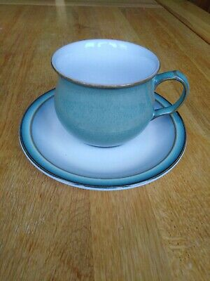Denby Regency Green Cups And Saucers, Set Of 4 • 10£