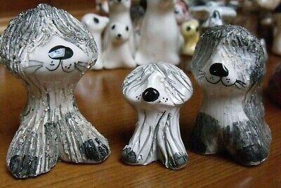 3 Old English Sheepdogs Vintage Philip Laureston Pottery  • 19.95£