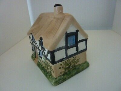 Studio Szeiler Pottery Thatched Cottage Money Bank With Original Stopper Rare • 24£