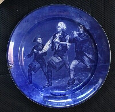 Cauldon Flow Blue Charger Plate 'The Spirit Of '76' • 50£