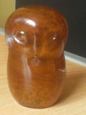 Langham Clear And Brown Glass Owl Paperweight • 5.99£
