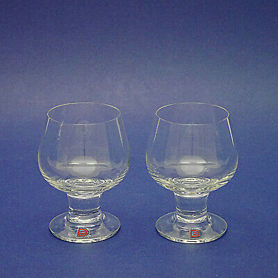 Two Dartington Crystal Handmade Compleat Imbiber Brandy Glasses By Frank Thrower • 14.99£