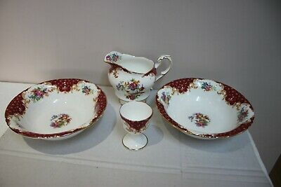 4 Odd Pieces Of Paragon Red Floral Rockingham Pattern Bone China   • 14.99£