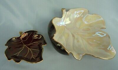 Two Carlton Ware Leaf Dishes ~ In Lovely Display Condition ! • 2.49£