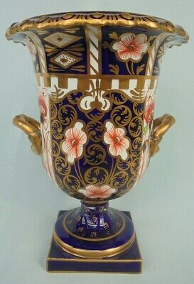 Antique Royal Crown Derby Campana Vase  Imari Witches  Pattern ( 6299 ) C.1913 • 9.51£