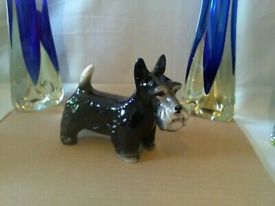 VINTAGE 1940s / 50s MELBA WARE POTTERY JACK RUSSELL DOG.  7  INCH TALL (18cm)  • 9£
