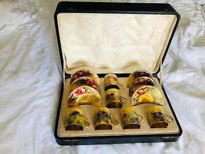 Royal Worcester Limited Edition Rare Fruit Hand Painted Tea/coffee Set • 1,950£