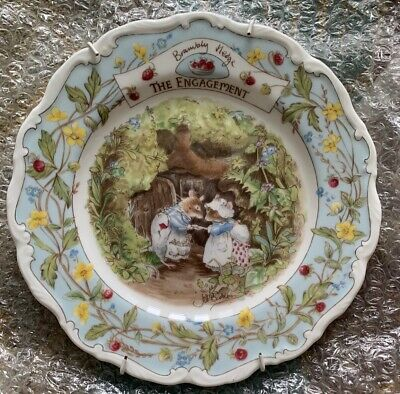 Royal Doulton Brambly Hedge The Engagement  8ins Plate  Ex Condition • 12.50£