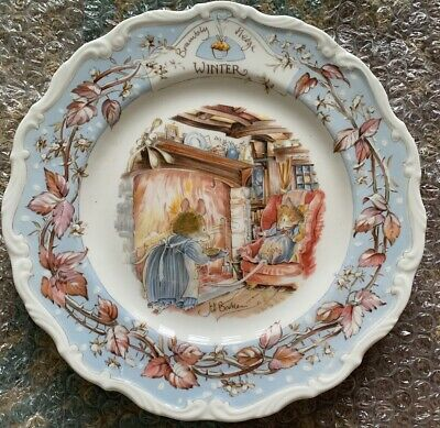 Royal Doulton Brambly Hedge Winter  8ins Plate  Ex Condition • 2.99£