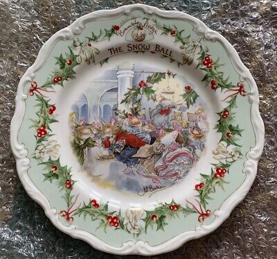 Royal Doulton Brambly Hedge The Snow Ball 8ins Plate  Ex Condition • 11£