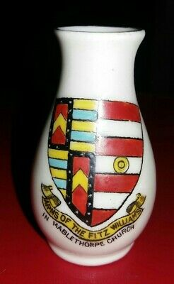 Crested China - Arms Of Fitz Williams In Mablethorpe Church - Arcadian  • 3.99£