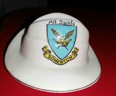 Crested China - All Saints SOMERTON - WW1 Colonial/Slouch Hat -Carlton China  • 3.99£