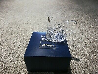 Royal Scot Hand Cut Lead Crystal Tankard New • 7£