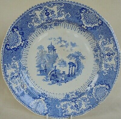 Antique John Thomson Of Annfield Pottery Glasgow - Grecian Pattern Plate  • 16£