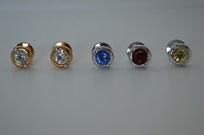 Swarovski Rare Red Crystal Lapel Tie Pins Silver Plated (Retired) • 5£