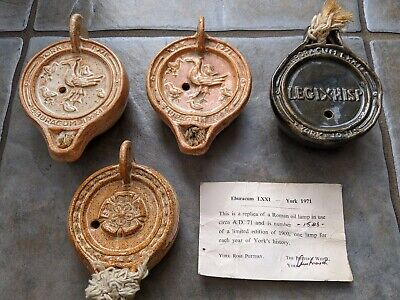 A Collection Of 1971 Commemorative Oil Lamps To Celebrate 1900 Yrs Of York • 125£