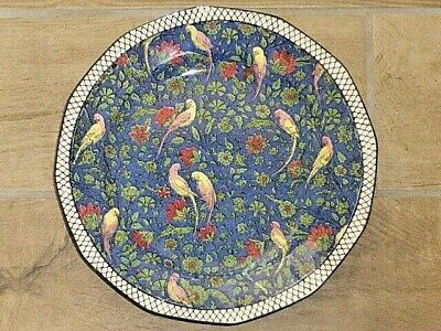 Stunning Antique Royal Doulton Persian Parrot Blue Chintz Pattern D4031 Plate • 75£