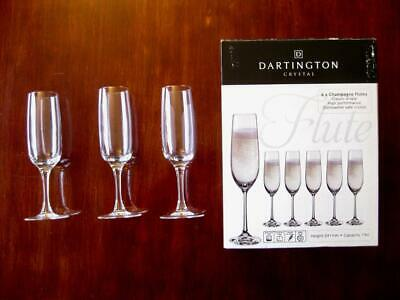 Dartington Crystal  Three Champagne Flutes, Glasses  Excellent Condition Elegant • 14.95£