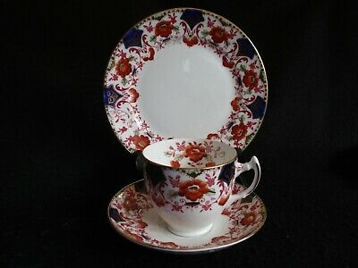 ART DECO COLLINGWOODS HAND-PAINTED FLORAL #5868 CUP/SAUCER/PLATE TRIO C.30's EX • 9.99£