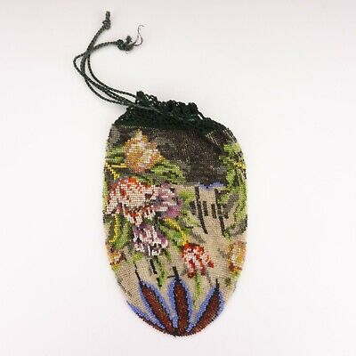 Antique Victorian Hand Crafted Beadwork Ladies Purse - Beautiful! • 0.99£