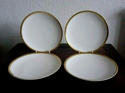 Vintage Thomas Germany Medaillon Thick Gold Band Tea/side/bread Plates X 4 • 19£