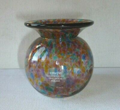 Cowdy Glass Vase Signed • 6.99£