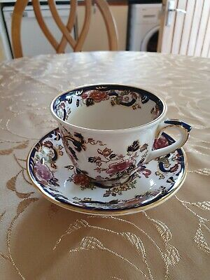 Masons Ironstone Blue Mandalay Jumbo Cup & Saucer. Very Good Condition • 10£