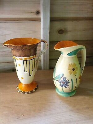 Myott And Sons Jugs X 2 Art Deco Vintage • 25£