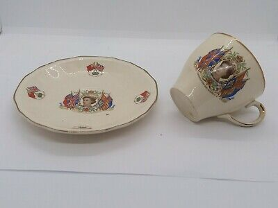 Alfred Meakin Queen Elizabeth Coronation Commemorative Tea Cup And Saucer 1953  • 25£