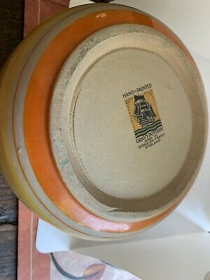 1930s Hand Painted Art Deco Grays Pottery China Bowl • 25£