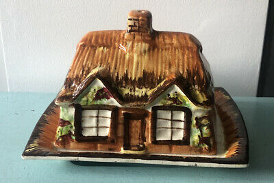 Vintage Cottage Ware Butter Dish / Cheese Dish House / Cottage Shape  • 6£
