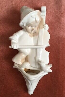 Delightful Early 'Goebel' Wall Plaque/Pocket. 'Boy Playing Violin' • 19.50£
