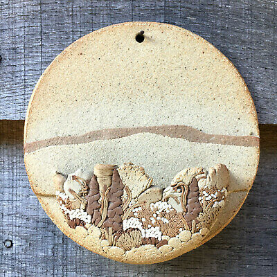 Vintage 1970's Rustic Wall Pocket Hand Made Studio Pottery Signed J D VGC • 11.95£