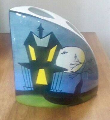Lorna Bailey 'Haunted House' Quadrant Vase - Early Old Ellgreave Piece - Mint • 46£
