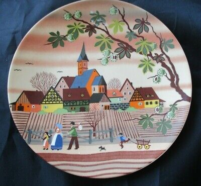 Vintage Poole Pottery 6  Plate By Barbara Furstenhofer  - No.427 Autumn II  • 9.99£