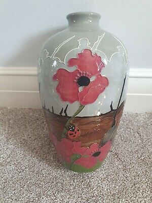 Moorcroft Lest We Forget Pattern Vase, Height 23.5cm. This Is A Rare Item. • 111£