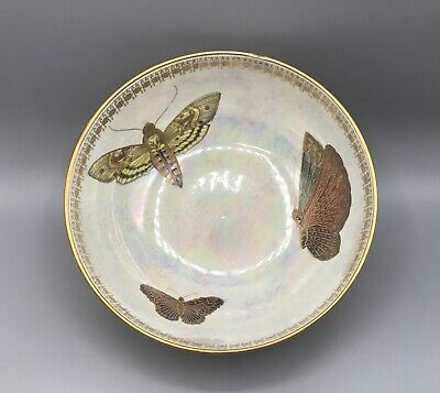 W & R Carlton Ware Lustre Bowl Decorated With Butterflies & Moths • 200£