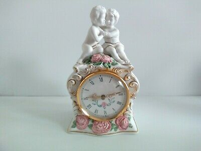 Vintage 'The First Embrace' By The Franklin Mint, Hand Painted Clock Cherubs   • 15£
