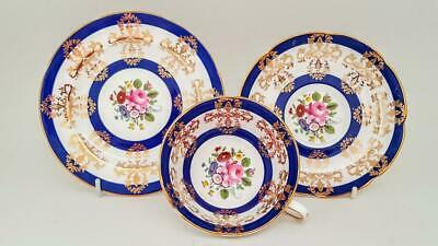 Superb Royal Grafton Fine Bone China Floral & Gold Tea Trio - Cup Saucer Plate • 9.95£