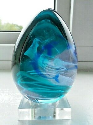 Caithness Crystal Paperweight Wavedancer Limited Edition. • 14.50£