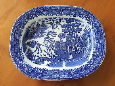Vintage Small Oval Platter - Willow Pattern • 5£