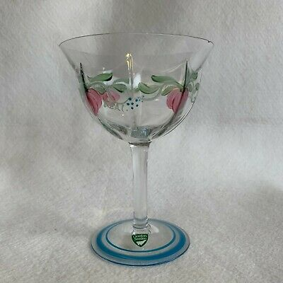Orrefors Maja Champagne Glass Sweden - Vintage - Signed - In Very Good Condition • 29.99£