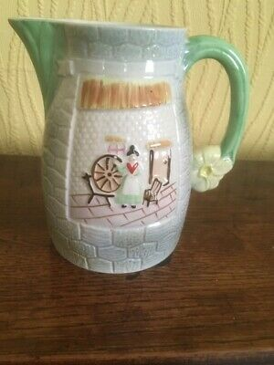 Large White, With Pink Roses Decorative Jug - H 7.2  - Fabulous Condition • 2.55£