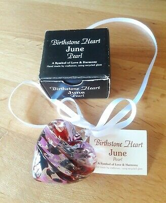 Milford Collection Glass Birthstone Heart June • 6.50£