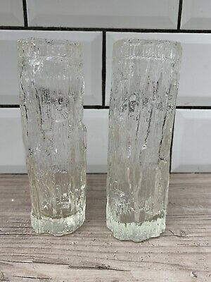 % Pair Retro Mid Century Whitefriars Glass Vases % • 3.99£