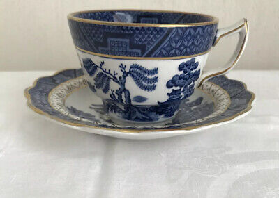Booths Real Old Willow A8025 Cup And Saucer Nice Condition • 14.99£