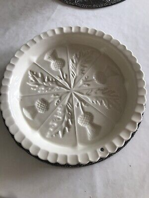 1869 Victorian Pottery Large Round Shortbread Dish • 14.99£