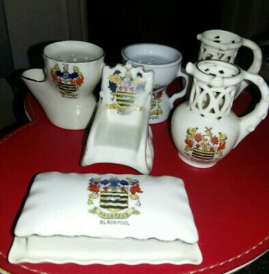 6 X Crested China - All With BLACKPOOL Crest. • 3.99£